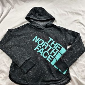 North face crop hoodie size youth xl